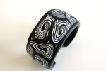 Black and white zebra print cuff
